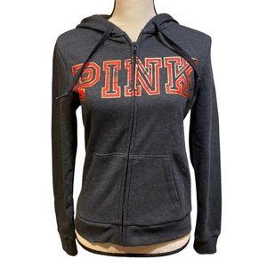 PINK Victoria's Secret Gray Zip Up Hoodie